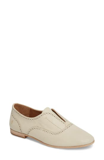 Frye Terri Laceless Oxford- White
