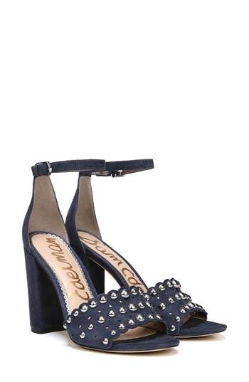 Sam Edelman Yaria Studded Block Heel Sandal, Blue