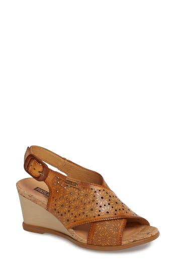 Pikolinos Vigo Wedge Sandal, Brown