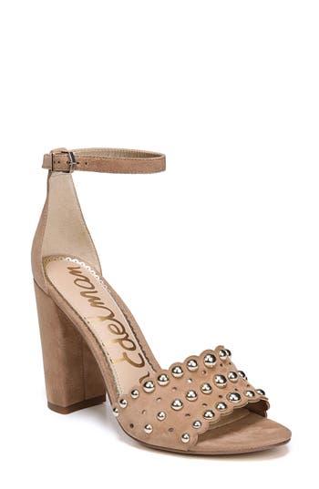 Sam Edelman Yaria Studded Block Heel Sandal, Beige