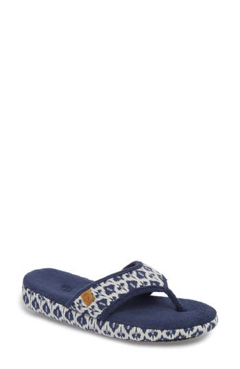 Women's Acorn 'Summerweight' Slipper, Size Small - Blue