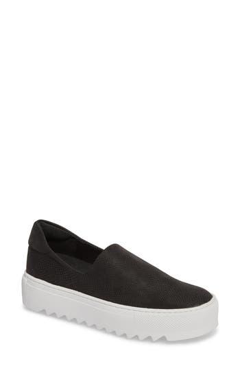 Jslides Sage Platform Slip-On Sneaker, Black
