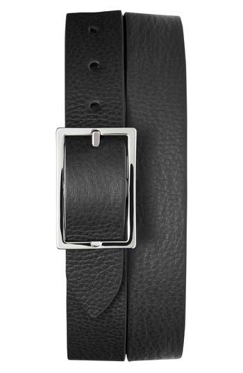Shinola Reversible Leather Belt, Black/ Walnut