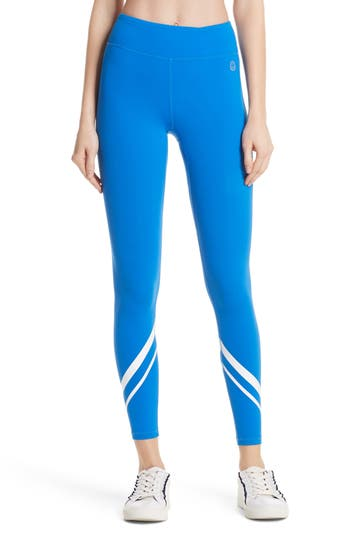 Tory Sport Chevron Leggings, Blue/green