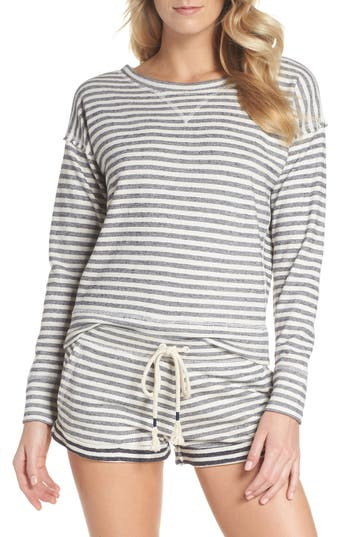 Skin Charlie Stripe Sweatshirt, Blue