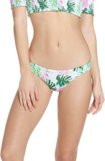 Pilyq Ruched Bikini Bottoms, White