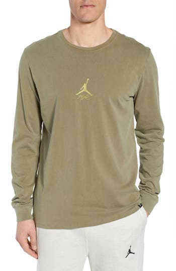 Jordan Wings Long Sleeve T-Shirt, Green