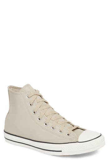 Converse Chuck Taylor All Star Leather High Top Sneaker- Beige