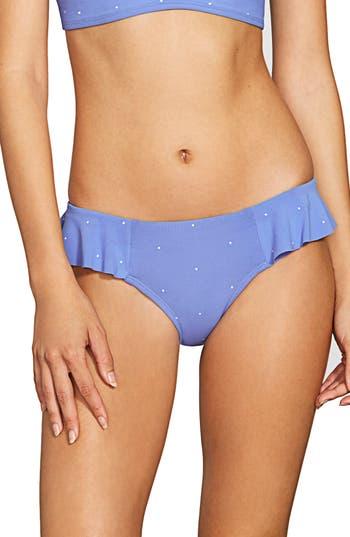 Robin Piccone Jennie Ruffle Bikini Bottoms, Blue