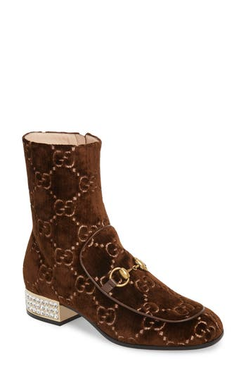 Gucci Mister Logo Bootie, Brown