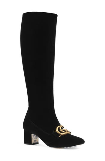 Gucci Victoire Marmont Boot, Black
