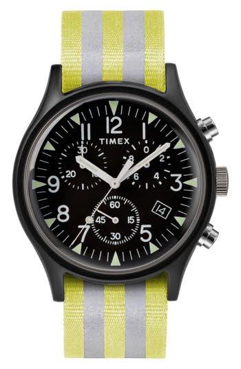 Timex Mk1 Chronograph Nylon Strap Watch, 40Mm