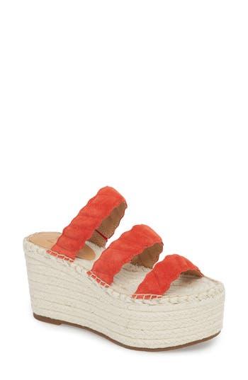 Marc Fisher Ltd Rosie Espadrille Platform Sandal, Red