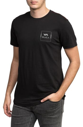Rvca Down Pour Graphic T-Shirt, Black