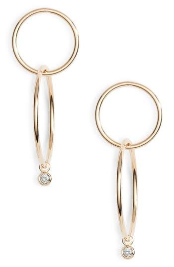 Zoe Chicco Double Star Diamond Drop Earrings