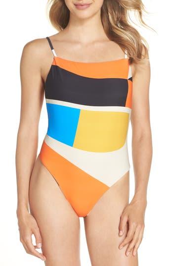 Billabong Vai Vai Reversible One-Piece Swimsuit, Black