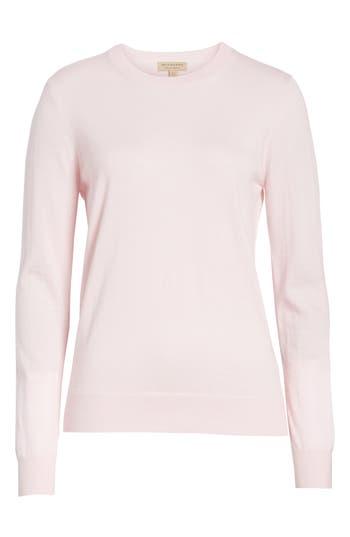 Burberry Viar Merino Wool Sweater, Pink