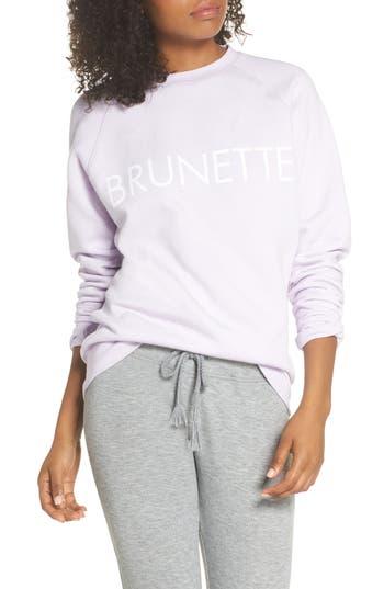 Brunette The Label Brunette Crewneck Sweatshirt, Purple