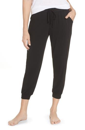 Splendid Crop Pajama Pants, Black
