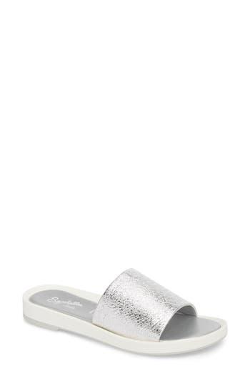 Women's Seychelles So Zen Slide Sandal, Size 6 M - Metallic