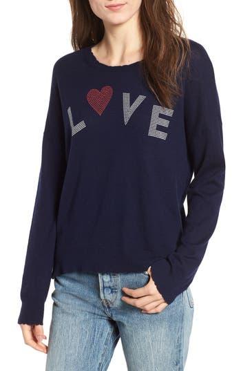 Sundry Love Wool & Cashmere Sweater, Blue