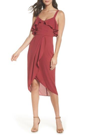 Cooper St Capulet Drape Dress, Red