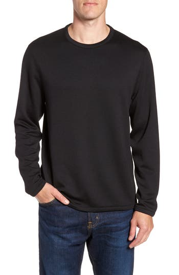 Nordstrom Shop Reversible Crewneck Sweater, Black