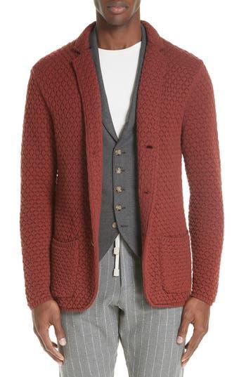 Eleventy Wool Sweater Jacket, Blue