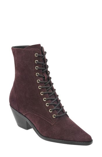 Marc Fisher Ltd Bowie Lace-Up Boot, Purple