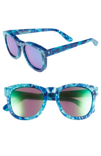 Wildfox Classic Fox - Deluxe 5m Sunglasses - Monterey/ Green Mirror