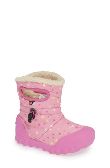 Infant Bogs B-Moc Plus Waterproof Insulated Faux Fur Boot, Pink