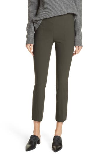 Vince Stitched Seam Leggings, Green