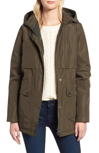 Barbour Altair Waterproof Hooded Jacket, US / 8 UK - Green