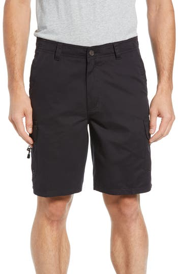 Quiksilver Waterman Collection Maldive Regular Fit Cargo Shorts, Black