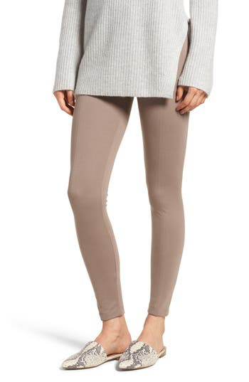 Lysse Center Seam Ponte Leggings, Brown