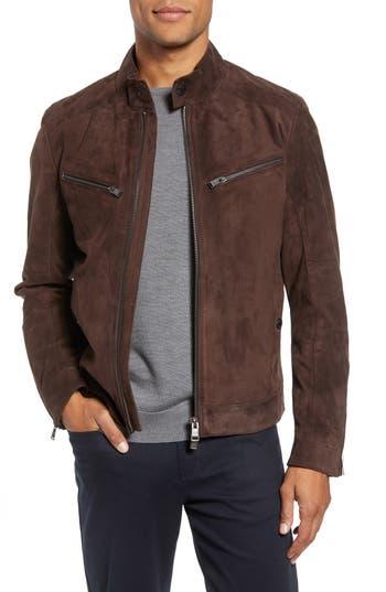 Boss T-Nalok Suede Jacket, 8R - Brown