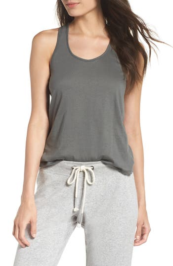 Alternative Racerback Shirttail Tank, Grey