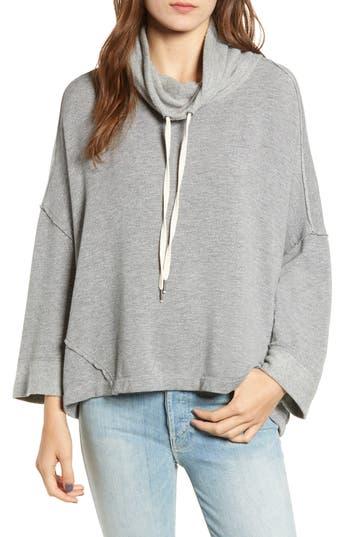 Splendid Cowl Neck Sweatshirt, Grey