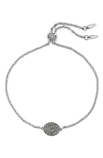 ADORE Pave Crystal Oval Bracelet, Silver