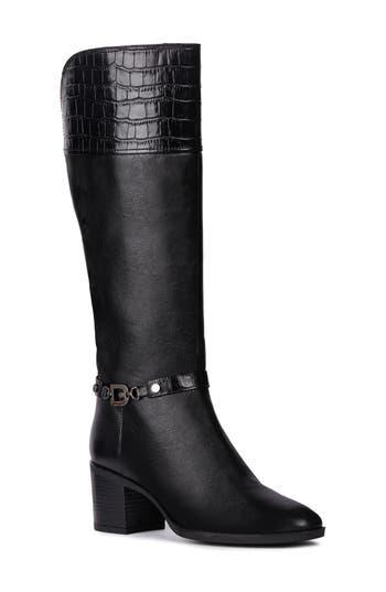 Geox Glynna Knee High Boot - Black