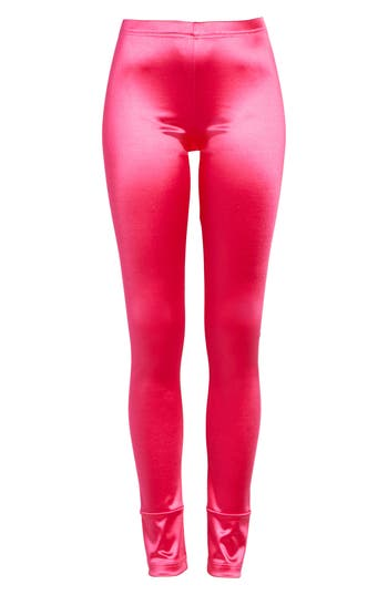Junya Watanabe Stretch Satin Leggings, Pink