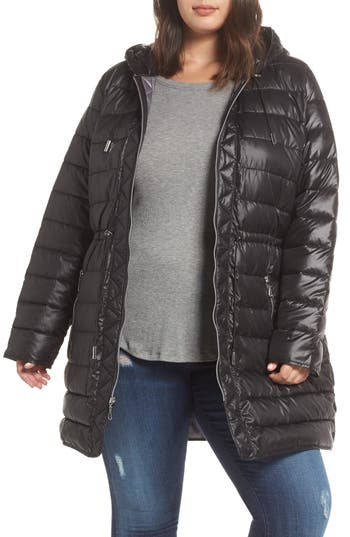 Plus Size Kenneth Cole New York Packable Quilted Parka