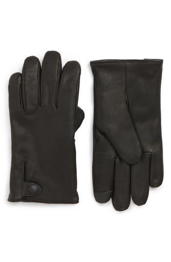 Ugg Leather Gloves, Black