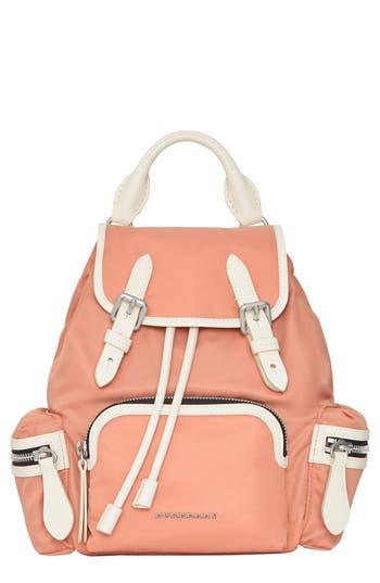 Burberry Small Rucksack Nylon Backpack - Pink