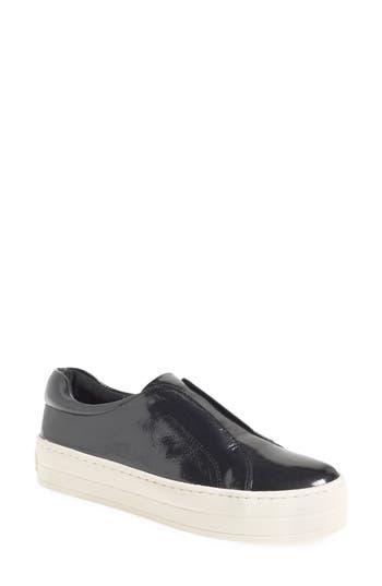 Jslides Heidi Platform Slip-On Sneaker, Grey