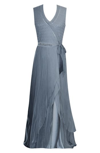 Edwardian Evening Gowns | Victorian Evening Dresses Womens Komarov Ombre Charmeuse  Chiffon Gown $568.00 AT vintagedancer.com