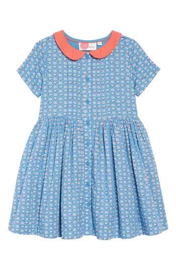 1920s Children Fashions: Girls, Boys, Baby Costumes Toddler Girls Mini Boden Nostalgic Collared Dress Size 3-4Y - Blue $52.00 AT vintagedancer.com