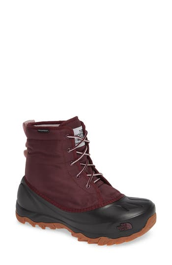 The North Face Tsumoru Waterproof Insulated Snow Boot, Burgundy