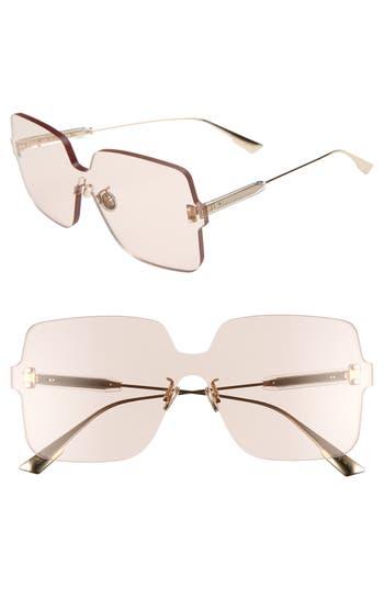 Christian Dior Quake1 147Mm Square Rimless Shield Sunglasses - Nude