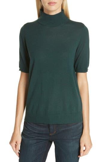 Eileen Fisher Merino Wool Mock Neck Sweater, Green